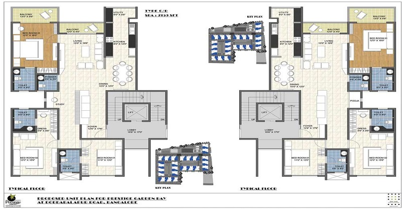 prestige garden bay floor plan