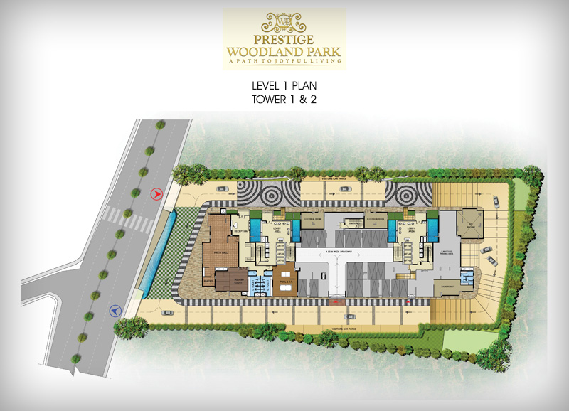 Pre launch Prestige Woodland Park floor plan