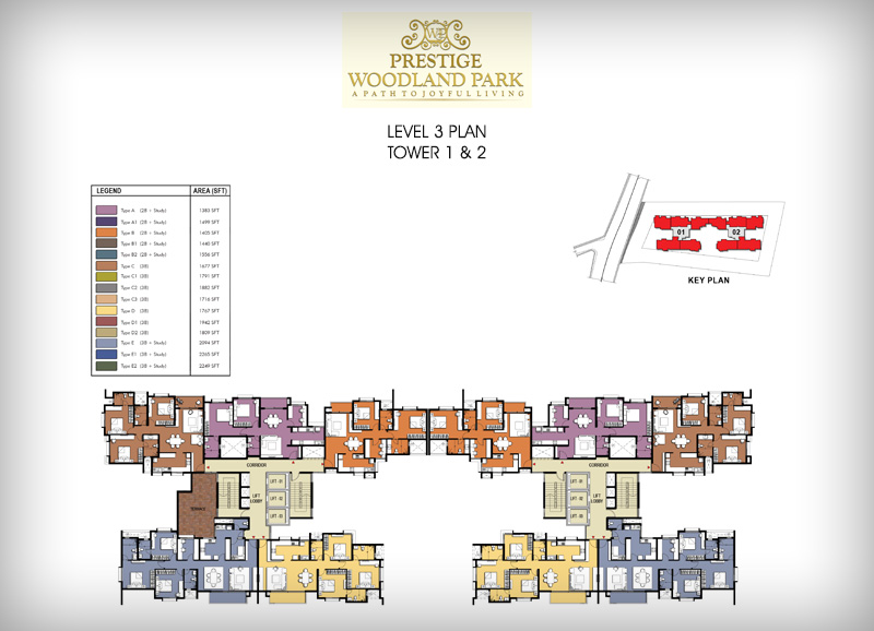 Pre launch Prestige Woodland Park floor plan3