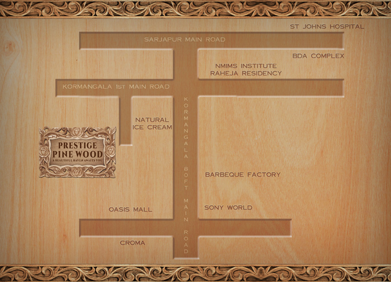 Pre Launch Prestige Pine Wood location map