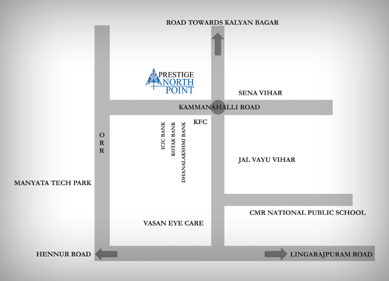 Prestige northpoint location-map