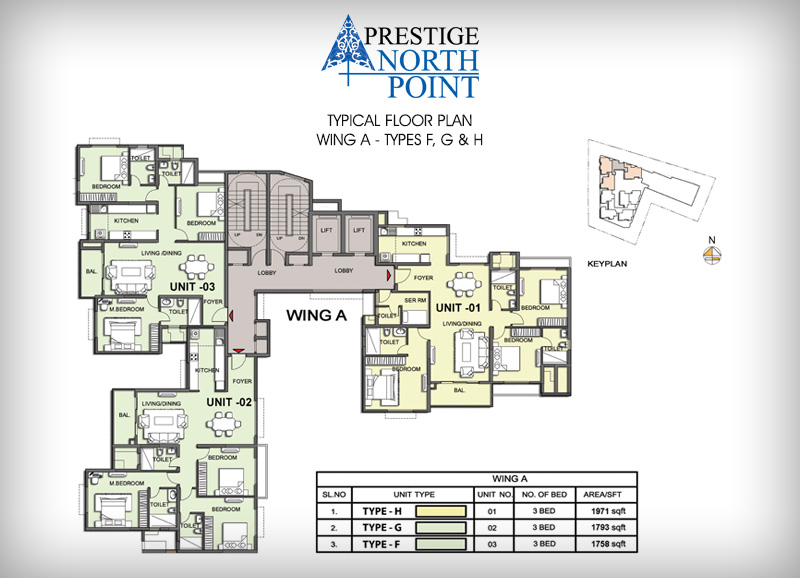 Prestige NorthPoint floor-plan-wing-a