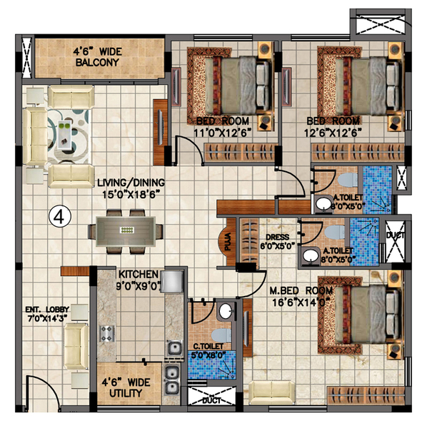 Aastha Valmark Floor Plan Review